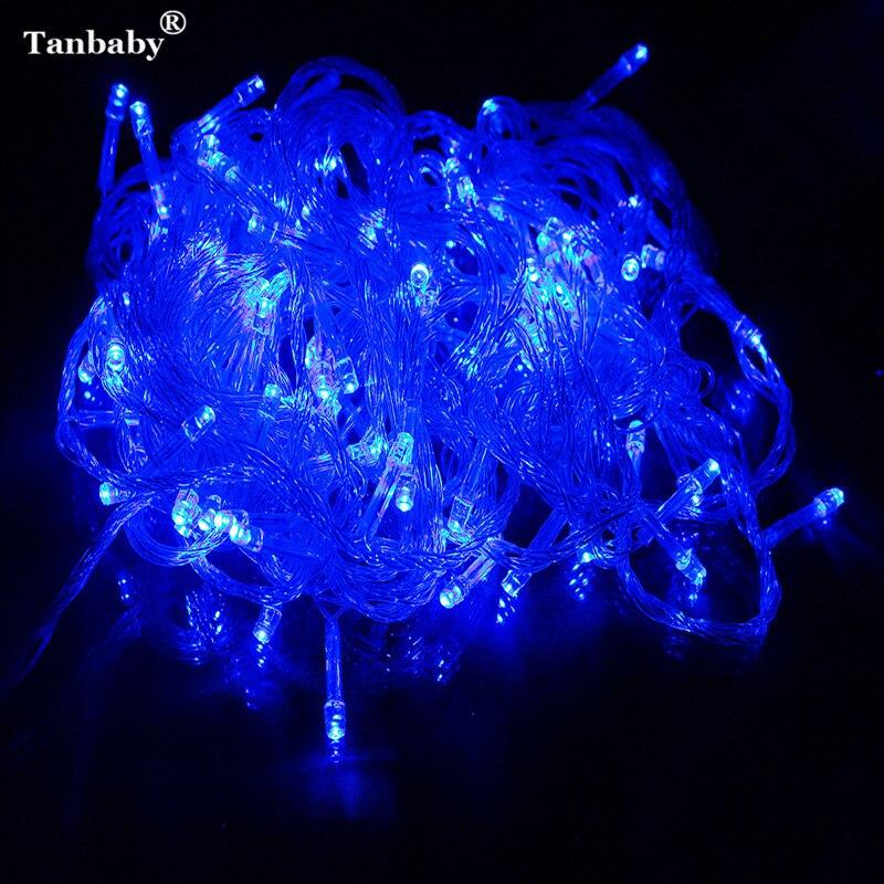 Tanbaby chrismas LED Fairy string luz 10 m 100 LED 110 V/220 V Navidad lámpara árbol de Navidad luz al aire libre Garland luces Decoración