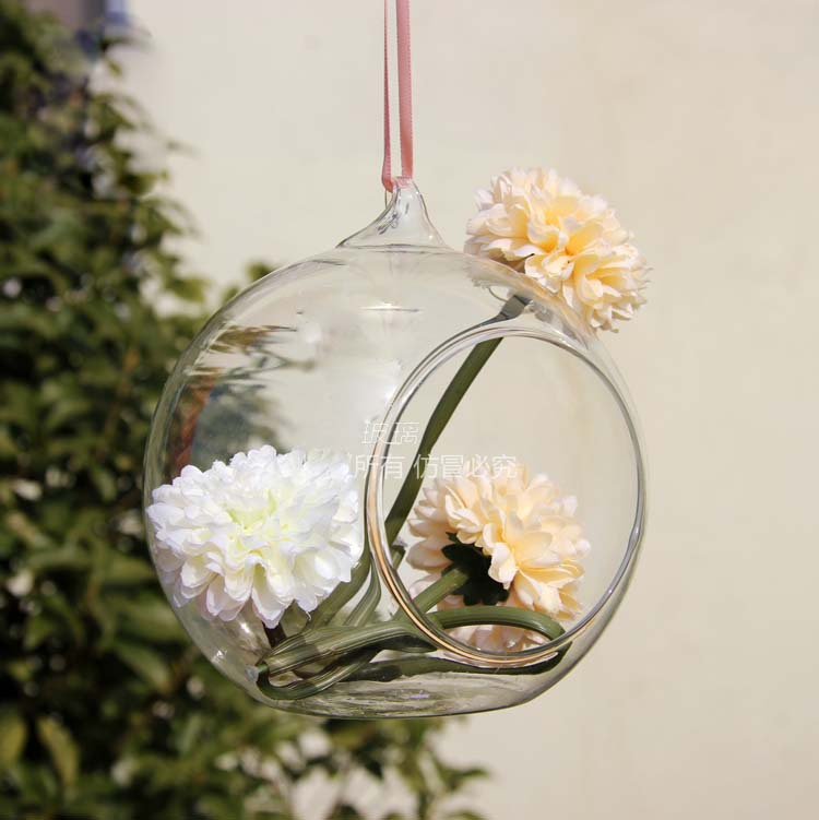 wholesale 4pcs*D10cm wedding crystal glass balls / hanging glass vase for  wedding centerpieces / vases for home flowers-in Vases from Home & Garden  on ...