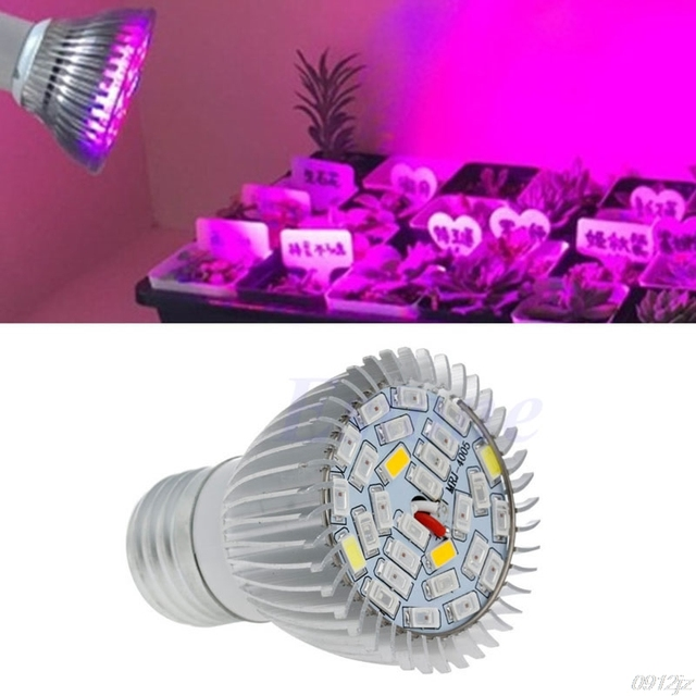 Espectro completo 8 W E27 LED crecer luz Kit de cultivo hidropónico planta verduras lámpara Flor de bombilla nueva nave de la gota Dls hogareño