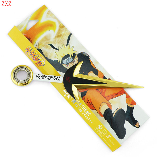 18cm new Styles Anime Naruto Kunai Japanese Ninja Cosplay Weapon Great Gift alloy metal Toy Rotatable