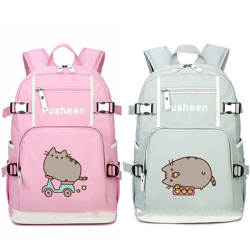 Cat Skating Balloon Biscuit Printing Oxford Backpack Laptop Bag School Book Girl Bag Shoulder Bag Travel Bag Boys Girls Gift