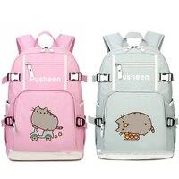 Cat Skating Balloon Biscuit Printing Oxford Backpack Laptop Bag School Book Girl Bag Shoulder Bag Travel Bag Boys Girls Gift