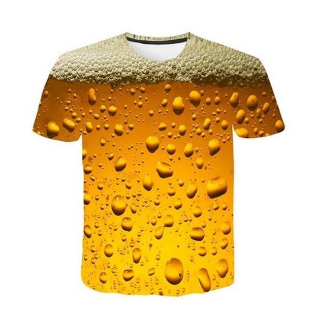 Beer 3D Print T Shirt It's...