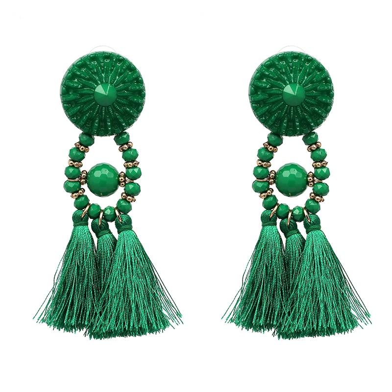 JUJIA 2020 Wanita Etnis Vintage Panjang Menjuntai Fringe Earrings - Perhiasan fashion - Foto 3