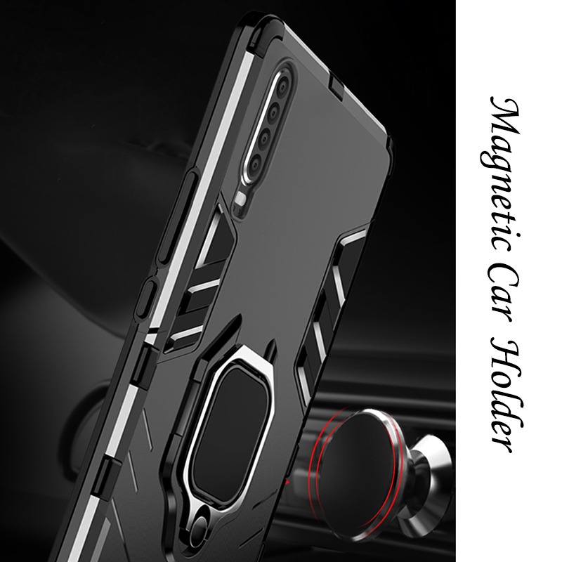 For Huawei P30 Pro case for Huawei P20 lite Metal Ring Case P30pro Full Cover P20Pro Soft Silicone Shockproof kick stand Case in Fitted Cases from Cellphones Telecommunications
