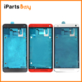 Ipartsbuy para htc one m7/801e carcasa frontal lcd reemplazo del bisel del capítulo plate