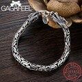 Мужской браслет GAGAFEEL  из 100% натурального серебра 925 пробы с головой Dragon  украшения Jine  аксессуары для мужчин