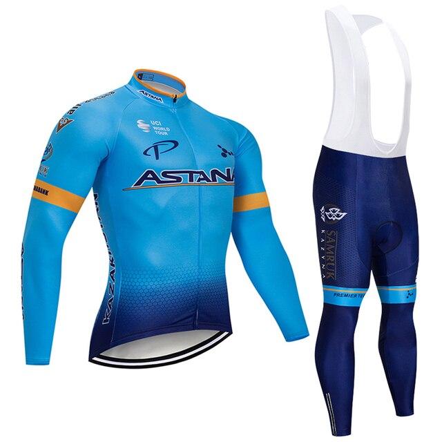 2019 Novo Equipamento de Ciclismo Astana Jersey 9D Almofada de Gel de Bicicleta Calças MTB Terno Térmica Vestuário Ciclismo Desgaste 3
