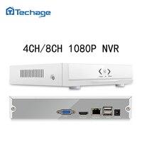Techage Mini NVR 4CH 8CH Full HD 1080P CCTV NVR H 264 NVR ONVIF HDMI Security
