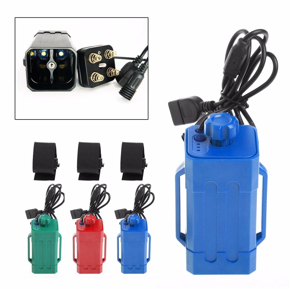 Waterproof USB DC Port 4x 18650 Power Battery Storage <font><b>Case</b></font> For Bike <font><b>LED</b></font> Light <font><b>iphone</b></font> Samsung LG (no battery) XQ_7