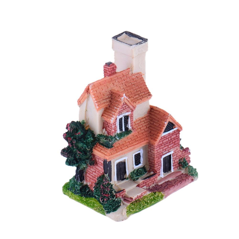 mini europe cottage/castle models lovely house fairy garden table