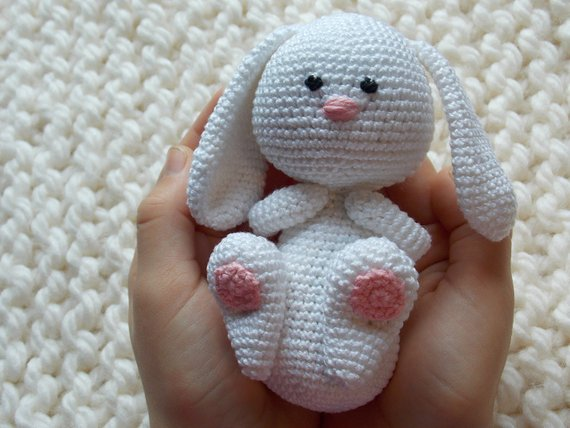 Amigurumi Crochet Easter  Bunny With Carrot