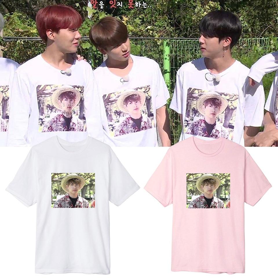 Bts Merch Shop  Bts Jungkook Hawaii Style Summer Cotton T-Shirts  Bts Merchandise-2888