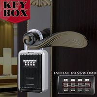 Key Storage Lock Box, 4 Digit Combination Lock Box, Wall Mounted Lock Box, Wall Mounted Key Safe Box/Security Key Holder