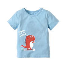 OKLADY 2019 Summer Girls Boys Short Sleeve T Shirts Cartoon Print T-shirt Cotton Tops For Kids Clothing Cute Dinosaur Tee Shirt cotton boys t shirt excavator summer 2019 cartoon frog printed short sleeve t shirt for kids boys tee shirt dinosaur tops