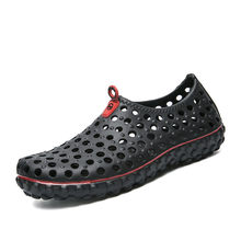 Men Casual Clogs Summer Sandals Garden Beach Shoes Size 40-45 Jelly Shoes Breathable Slip-on Man Hole Shoes(China)