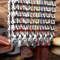 22 cm * 10 mm 316L acero inoxidable hermoso cadena de la motocicleta pulsera de múltiples colores elegir precio en fábrica buen regalo para hombres mujeres