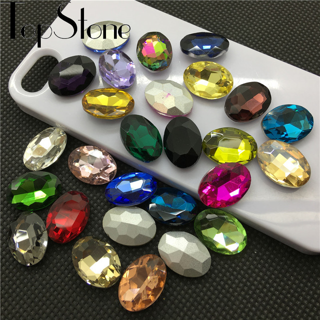 All Sizes Colors Oval fancy stone pointed back 4x6mm~20x30mm Glass Crystal Jewelry beads bracelet,necklace,brooch making