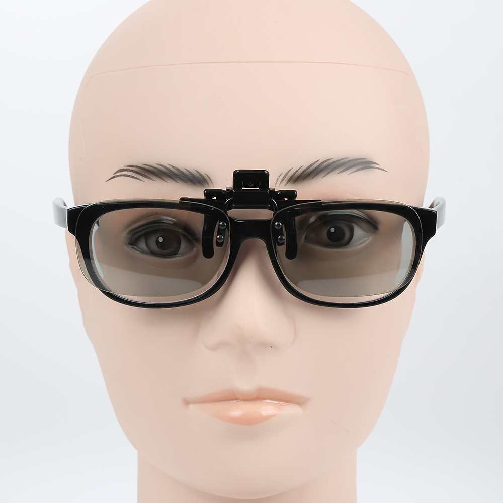 High quality Myopia Clip 3D Glasses Make Eyes See 3D Effect Movie Passive TV with Glasses Box NEW