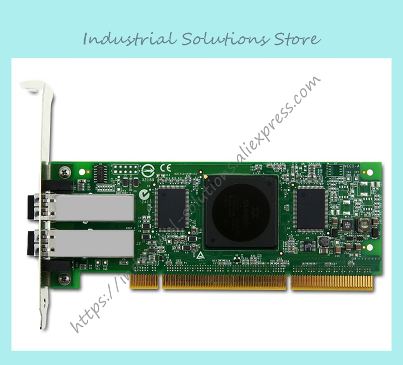 Original QLA2462 4GB dual card PCI-X card optical fiber channel 100% tested perfect quality цена 2017