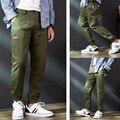 Odinokov Marca Moda High Street Calças Soltas Masculinos Calças de comprimento no tornozelo Confortável Legal Calças de Carga Camo Jogger