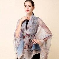 Di alta qualità 100% sciarpa di seta di gelso naturale reale di seta Delle Donne Lunghe sciarpe Scialle Femminile hijab dell'involucro Della Spiaggia di Estate Cover-ups P15