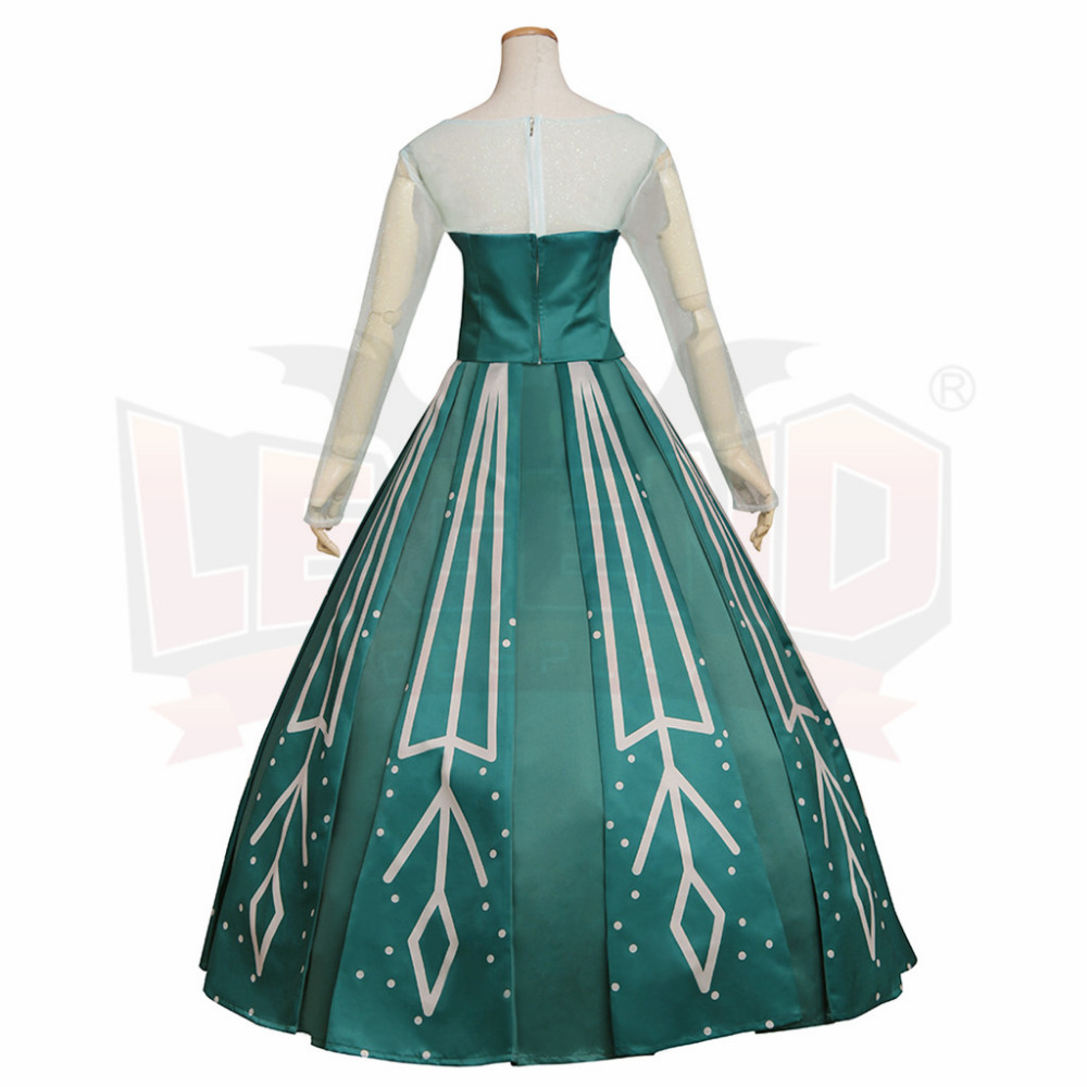 Snow Queen Ball Gown Costume Princess Elsa Dress Adult Women Lady ...