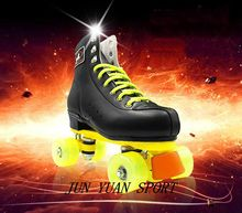 High qaulity!Double Roller Skates Genuine Leather PU Wheels Two Side Roller Skate Patines Lady Skates Adult Skate Shoes