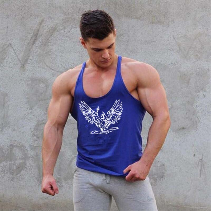 Mens Bodybuilding Clothing Tank Tops Gyms Tank Top Singlet Fitness Vest Brand Muscle Shirt Male Sportswear Undershirt