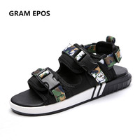 GRAM EPOS Unisex Summer Shoes Men Camouflage Green Sandals For School Street Style Casual Cool Slippers