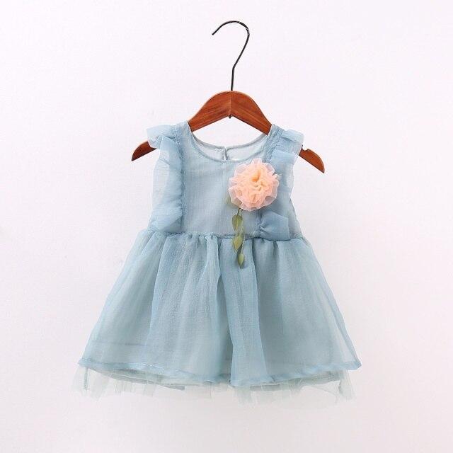 7a3a3ab794ef9 US $6.13 |Summer Lovely Lolita Style Princess Baby Girls Dress Mesh Flower  Dresses Toddler Girl Clothing Birthday vestido infantil M1-in Dresses from  ...