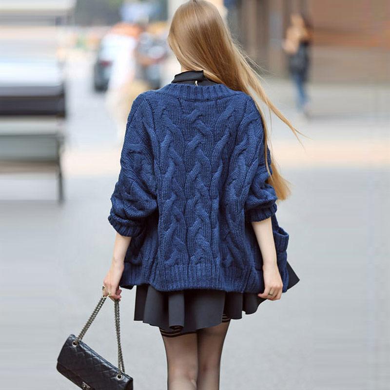 Maison Blue De Femmes Fxfurs Mode Cardigan À Longues Dames kahki Pour Manches Chandails L'hiver 2018 orange Vêtements Manteau beige srQthd