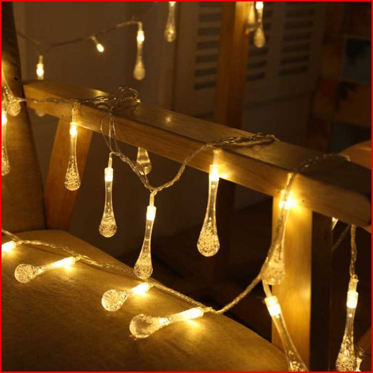 AC220V 5M 28 LED Crystal Bubble Water Drop String Fairy Lights for Wedding party christmas decorations for home outdoor indoor