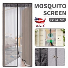 Summer Mesh Net Anti Fly Bug Insect Curtain Magnetic Mosquito Screen Door Fits Doors Up To 39x 83 Inch monkey pattern anti mosquito mesh net magnetic curtain