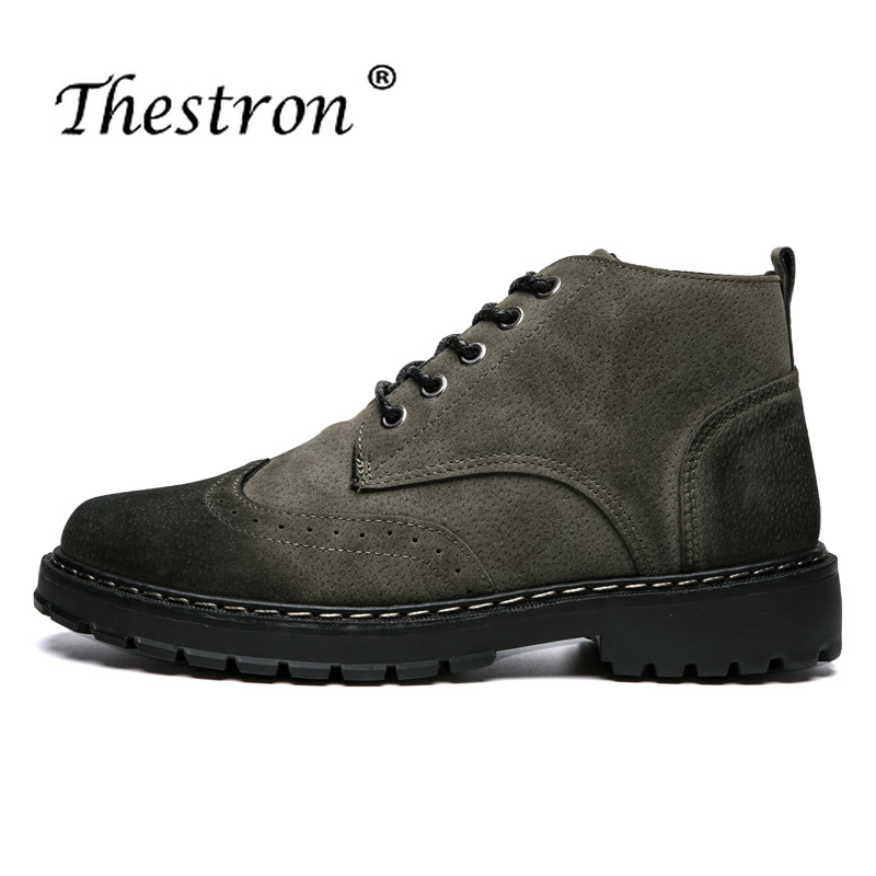 Classic Man Chelsea Shoes 2018 Brand Designer Men Casual Cow Suede Leather BIack Gray Army Green Outdoor