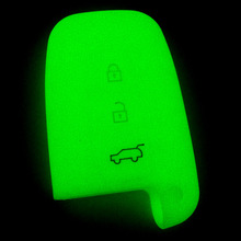 1pcs 3 Buttons Glow Silicone Car key Case Cover for KIA K5 K4 K3 K2 Rio Sportage Cerato Sorento Forte Carens Hyundai ix35 Sonata