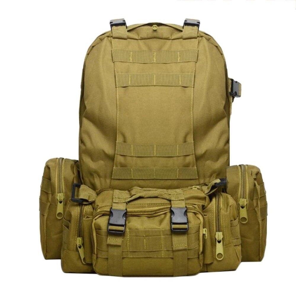 50L sac d'escalade en plein air militaire armée sac à dos tactique imperméable à l'eau sacs à dos Sport Camping randonnée voyage combinaison sac