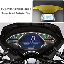 Dla Honda PCX 150 2018 2019 Film chroniący przed zarysowaniem Speedo Instrument Dashboard tarcza dla Honda 2018 PCX150 PCX 150 tanie tanio LARATH Wearable Ultraviolet-proof Explosion-proof Blu-ray 0 15kg Made from Crystal Clear premium TPU film 0inch Naklejki i naklejki