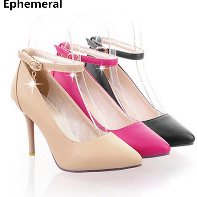 427520bf5c87 Women's Designer High Heels Pumps Buckle Starp Accurate Big size 34-43 Sexy  Hot Shoes