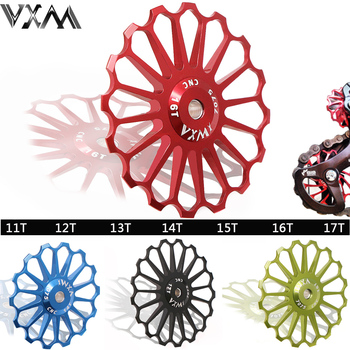 VXM Bicycle Ceramics Rear Derailleur 11T 12T 13T 14T 15T 16T 17T Jockey Wheel Road MTB Guide Bike Ceramics Bearing Bicycle Part vxm bicycle crank