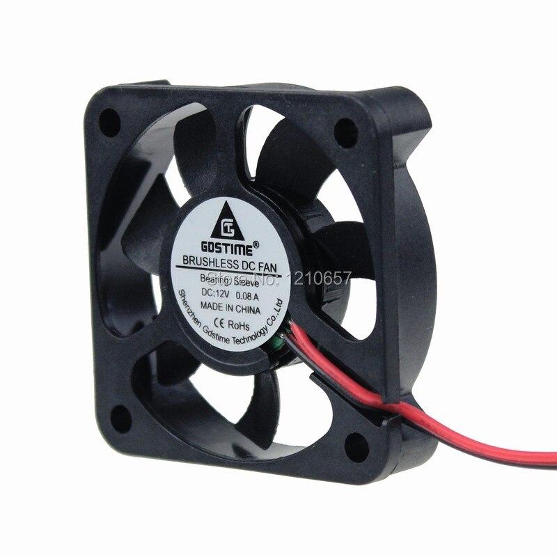 50 PCS LOT Gdstime DC 5010 5cm 50mm 50x50x10mm 5010s 12V 2P Ventilation Duct Fan