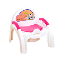 Child Pot Plastic Chair Cartoon Baby Toilet Training Boy Girls Unisex Child Toilet Seat Portable Baby Children's Potty Chair WC