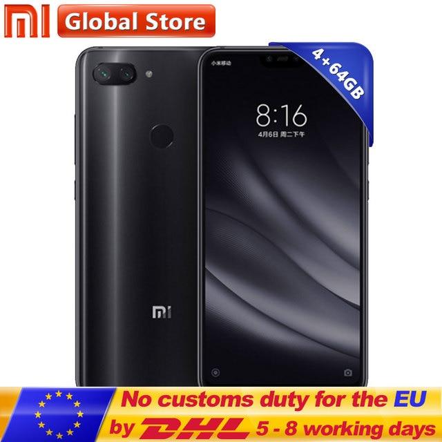 "New Original Xiaomi Mi 8 Lite Mobile Phone 4GB RAM 64GB ROM Snapdragon 660 Octa Core 24MP Front Camera 6.26"" 19:9 Full Screen"