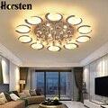 Современный светодиодный белый Потолочный светильник  хрустальная люстра  потолочный светильник для спальни  гостиной  потолочный светиль...