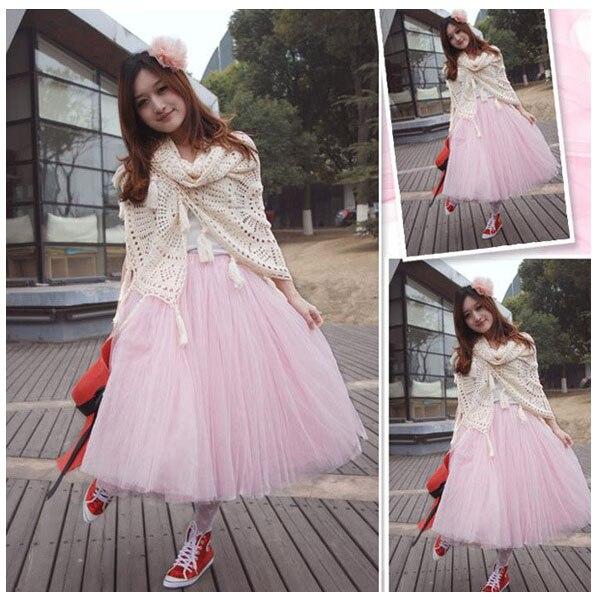 ad952502f938 Summer Womens Skirt Female 5 Layers Midi Tulle Skirts Womens 2016 Tutu Skirt  Ball Gown