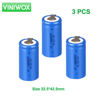 2200mAh Rechargeable Battery 1 2V SC Ni CD Subc Ni Cd Battery Cell With Weld Nickel