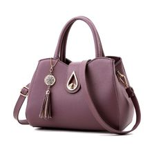 High Quality Women Leather Tassel Messenger Lady Hobo Handbag Shoulder Bag Tote PU Purse Satchel Crossbody Bag 2019 New naivety tassel pu leather handbag women shoulder bag rivet crossbody messenger phone purse 30s61212 drop shipping