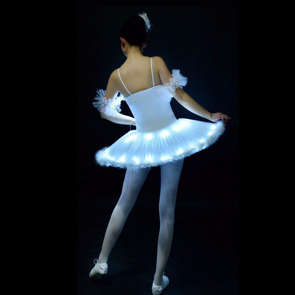 Professional Ballet Tutus LED Swan lake Adult Ballet Dance Clothes Tutu Skirt Women Ballerina Dress for Party-in Ballet from Novelty & Special Use    2