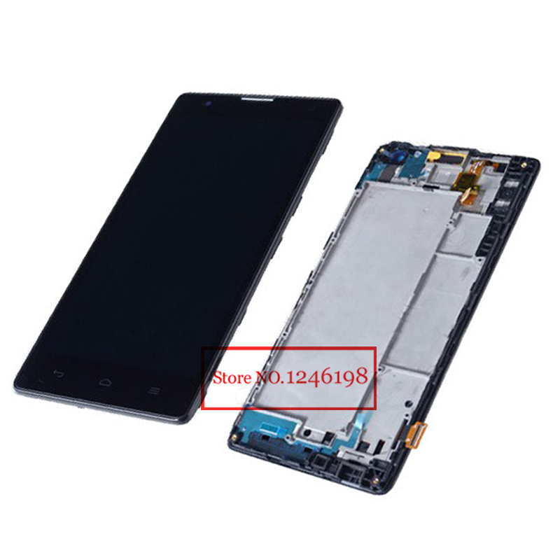Prix pour Noir haute qualité écran d'affichage tactile LCD Full assemblée Digitize + cadre pour Huawei Honor 3C G740 h30 h30 - u10 - t10 h30 - t00
