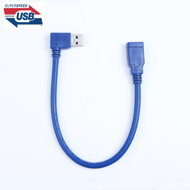 Standard USB 3.0 Male to Female Extension OTG Connector Wire data Adapter Cable 30cm 1ft 0.3m 90 Degree Left & Right Angled
